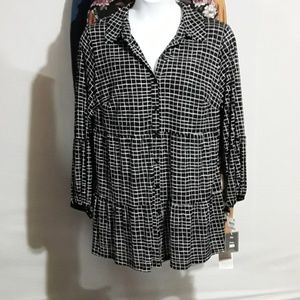 Style & Co Button Up Blouse Size 1X
